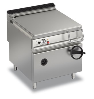 GAS BRATT PAN MANUAL TILTING 80 LT - INOX TANK  90BR/G80